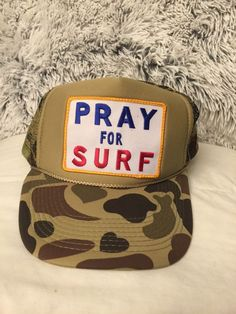 Extra Off Coupon So Cheap Aviator Nation Pray for Surf Trucker hat NWOT 5  panel Supreme cap Bape Skate 3fbd967a73b3