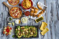 Texmex-buffet Finnish Recipes, Tex Mex, Guacamole, Buffet, Tacos, Menu, Mexican, Yummy Food, Cheese