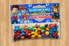 Hey, I found this really awesome Etsy listing at https://www.etsy.com/listing/187754436/personalized-paw-patrol-goody-bag