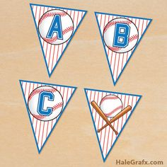 FREE Printable Baseball Alphabet Banner Pack