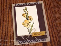 Watercolored floral For You card made with Gift of Love hostess stamp set from Stampin' Up!