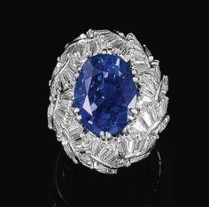 Vaillant & Duverne Ceylon Sapphire ring