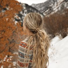 Long Hair Textured Braid Ponytail Inspiration