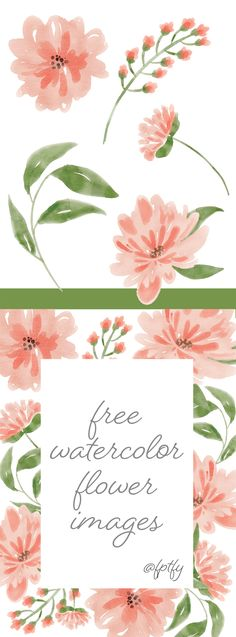 Free Watercolor Flower Images – Peach Delight!