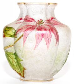 CAMEO GLASS VASE C. 1900