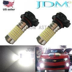 JDM ASTAR 144 SMD H16 5202 LED Extreme Bright Xenon White Car DRL Fog Light Bulb #JDMASTAR