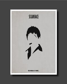 Scarface Tony Montana The World is Yours Minimalist Poster, A4 Print, Al Pacino Iconic Movie Print on Etsy, 10,00 €