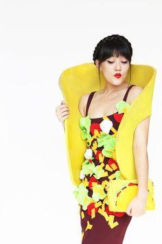 homemade costume ideas   DIY Halloween Costumes Ideas -Taco Costume Tutorial via Aww Sam