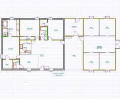 Horse barns with living quarters stall horse barn with for Horse barn house combo plans