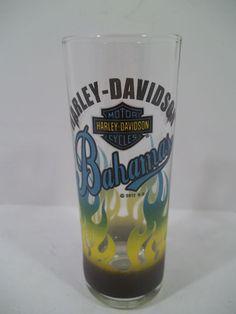 HARLEY DAVIDSON MOTORCYCLE SHOT GLASS - BAHAMAS - NEW!