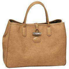 Sac porté main Roseau - Sacs - Longchamp - Naturel - longchamp.com