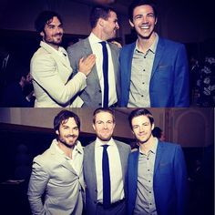 Ian Somerhalder with Stephen Amell & Grant Gustin