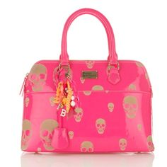 Paul's Boutique | Maisy Large in neon pink with skulls | Paul's Boutique Official web site
