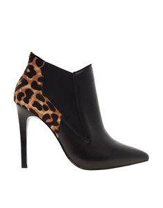 Karen Millen Leopard Print Ankle Boots