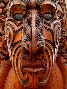 Maori wood carving by jacobjellyroll on DeviantArt Arte Tribal, Tribal Art, Mascara Maori, Maori Face Tattoo, Maori Tattoos, Koi, Maori People, Facial Tattoos, Tiki Art