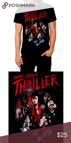 Michael Jackson Triller T-Shirt M L XL 2XL NWT Black slim fit T-shirt e5236f557