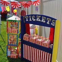 Fiesta circo A home-made ticket booth for a circus party! Circus Carnival Party, Circus Theme Party, Carnival Birthday Parties, Carnival Themes, Circus Birthday, Birthday Party Themes, Happy Birthday, Kids Carnival, Circus Circus