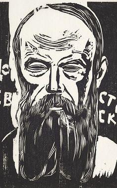 Lasar Segall (1891-1957). Dostoiévski, c. 1927. Xilogravura sobre papel. Coleção Museu Lasar Segall/Ibram/Minc