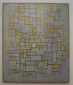Mondrian painting I saw in Kimbell Art Museum, Fort Worth