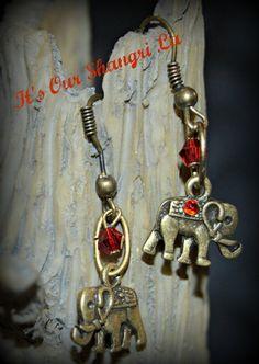 Earrings  The Luck of the Elephant Earrings by ItsOurShangriLa
