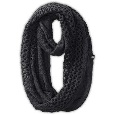 The North Face Women's Knitting Club Scarf ($40) ❤ liked on Polyvore featuring accessories, scarves, tnf black, knit circle scarf, knit infinity scarf, knit scarves, knit infinity scarves and knit loop scarf
