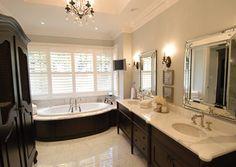 Sherwood Custom Home.  Great vanity mirrors.