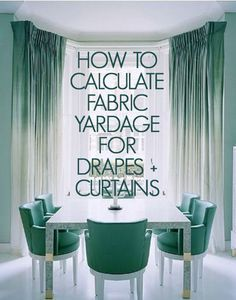 SEWING TIPS HELPFUL HINTS How to Calculate Yardage for Windows, curtains, draperies. If calculating yardage intimidates you (me, too) then go here because you get to think if it in COLORS and not just NUMBERS! (Right-brained people; Window Coverings, Window Treatments, Home Projects, Sewing Projects, No Sew Curtains, Ombre Curtains, Patchwork Curtains, Burlap Curtains, How To Make Curtains