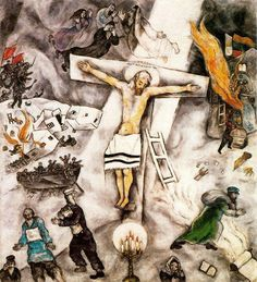 Marc Chagall, White Crucifixion, 1938, oil on canvas (Art Institute of Chicago)