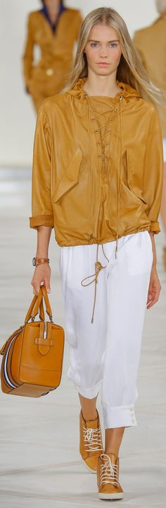 Ralph Lauren Collection Spring 2016: supple leather and ivory linen for relaxed luxury