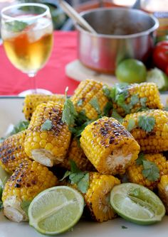 BBQ Corn with a Spicy, Lime Butter recipe! Great summer time grill recipe | eat drink daily