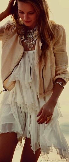 Boho / Summer / Bomber / White / Lace / Statement / Girly + Leather
