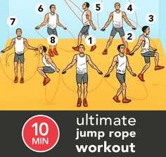 Get the most out of every minute with this quick but intense jump rope workout. Bonus: This 10-minute routine is perfect for the gym, home, or on-the-go.
