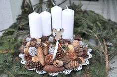 aboutVerena: DIY: Adventskranz mal anders / Advent Candles