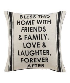 'Bless This Home' Throw Pillow