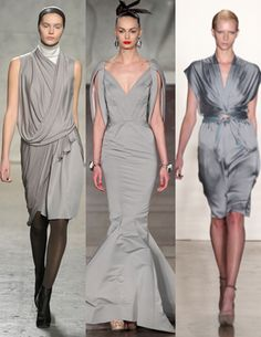 Fall 2012's Most Wearable Fashion Trends: Pale gray dresses. This could be worn casual or fancy,