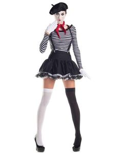 Mesmerizing Mime Adult Womens Costume