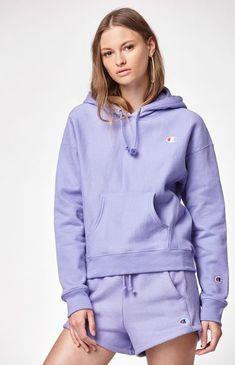 Hoodies and Sweatshirts for Women - Reverse Weave Hoodie Source by - Trendy Hoodies, Comfy Hoodies, Hoodie Sweatshirts, Purple Champion Hoodie, Champion Hoodie Women, Cute Lazy Outfits, Swag Outfits For Girls, Sweat Champion, Champion Clothing