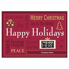 Merry Wishes Holiday Cards UP13147 | Peace Christmas Cards | Deluxe.com