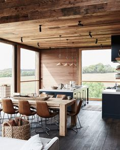 〚 Modern wooden house in the middle of wildlife in Australia. - 〚 Modern wooden house in the middle of wildlife in Denmark 〛 ◾ Photos ◾Ideas◾ Design Modern Wood House, Wooden House Design, Small Wooden House, Wooden Houses, Scandinavian House, Cabin Interiors, House In The Woods, House In Nature, Cottage In The Woods