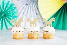 Add these cute acrylic cupcake toppers for a perfect unicorn-themed celebration! Each pack comes in 8 toppers. Each unicorn topper measures x inches. Please remove protective film before use. Glitter Ballons, Confetti Balloons, Unicorn Cupcakes Toppers, Unicorn Cake Topper, Rainbow Party Decorations, Bridal Shower Cupcakes, Unicorn Party Supplies, Birthday Supplies, Birthday Cupcakes