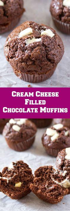 Cream Cheese Filled Chocolate Muffins