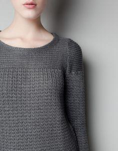 zara - beautiful textured pullover