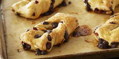 Receta: Anna Olson/  Cranberry Chocolate Focaccia Twists