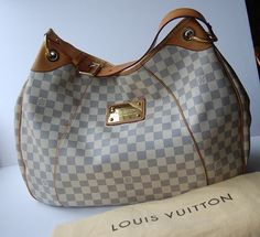 Louis Vuitton Galliera Gm Grey/blue Tote Bag