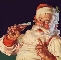 Coca cola santa- In the 1930's coke had artist Hubbard Sundblom design a santa for their holiday ads, and the famous image was born.