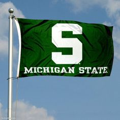 Michigan State Spartans Double-Sided 3x5 Flag by College Flags and Banners Co.. $59.95. This Michigan State Spartans Double-Sided 3x5 Flag is made of 2-ply nylon, measures 3x5 feet in size, has quadruple-stitched fly ends, and the Official NCAA School insignias are Embroidered into each ply of flag. The School insignias and lettering are readable and viewable correctly on both sides.