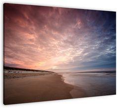 2 kleur sunset op canvas, dibond of (ingelijste) poster print van Patrick de Graaf.