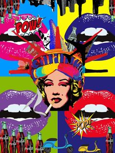 Pop art Andy Warhol inspired