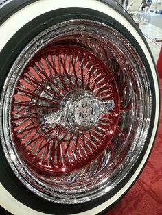 Wire wheel recommendations, anyone? Rims For Cars, Rims And Tires, Chrome Wheels, Car Wheels, Cadillac, Custom Wheels, Custom Cars, Truck Rims, National Car