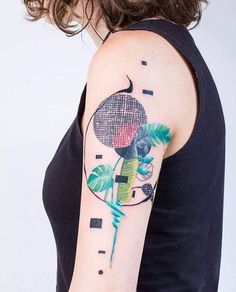 """""""Composición 13"""" For Mariel. Tattoo Artist: Kizun (Vale+Pablo DM)"""